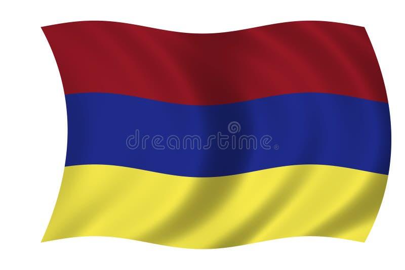 Bandeira arménia ilustração do vetor