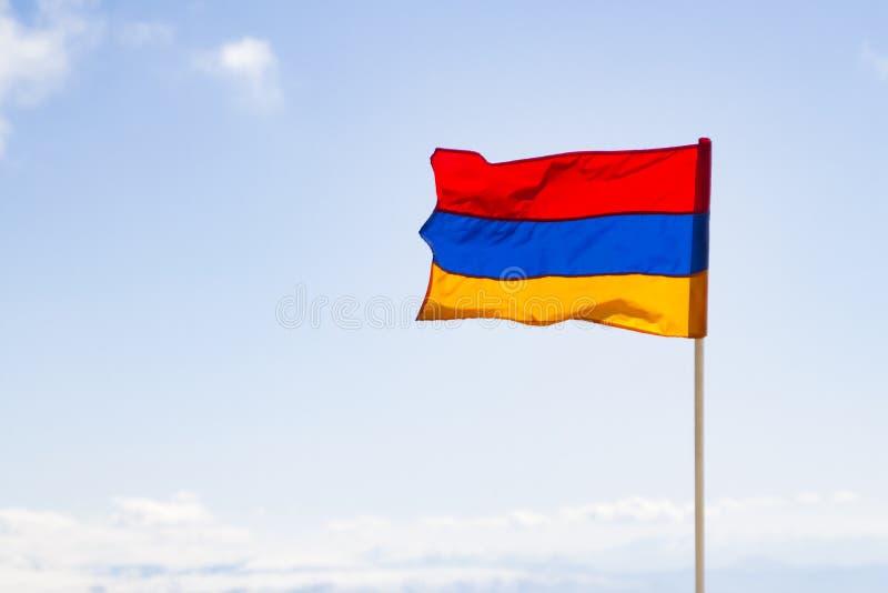 Bandeira arménia fotos de stock royalty free