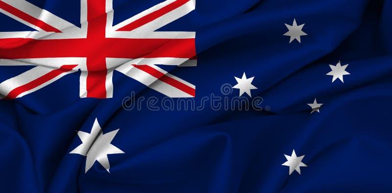 Bandeira australiana - Austrália ilustração do vetor