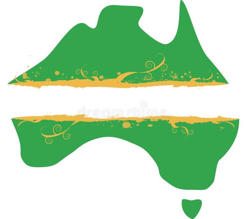 Bandeira australiana de Grunge do mapa ilustração do vetor