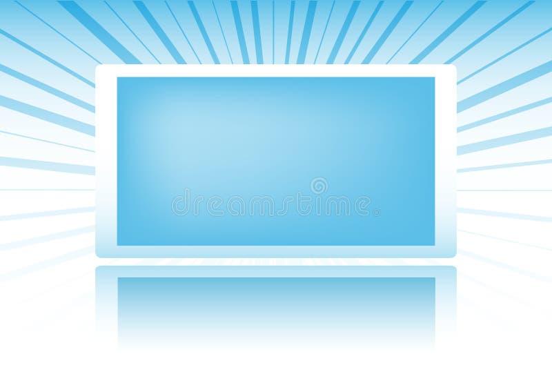 Bandeira azul ilustração royalty free