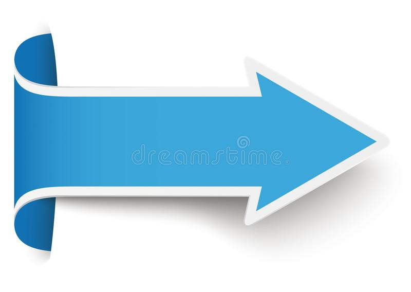 Bandeira azul da seta do converso ilustração stock
