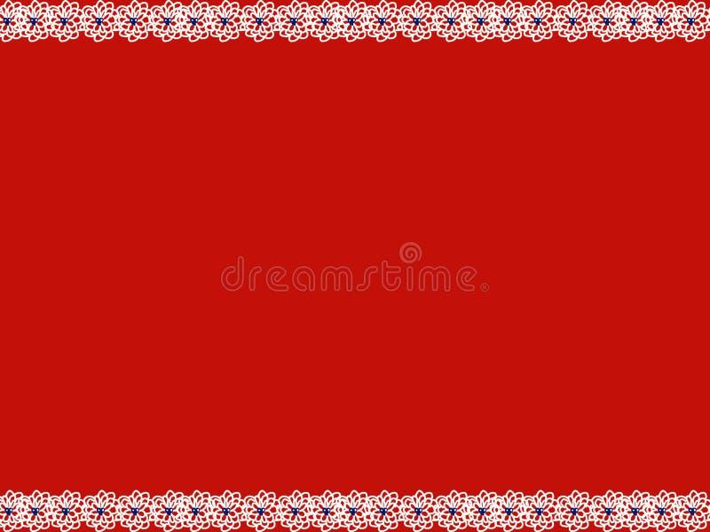 Bandeira azul do coração da flor branca imagens de stock royalty free