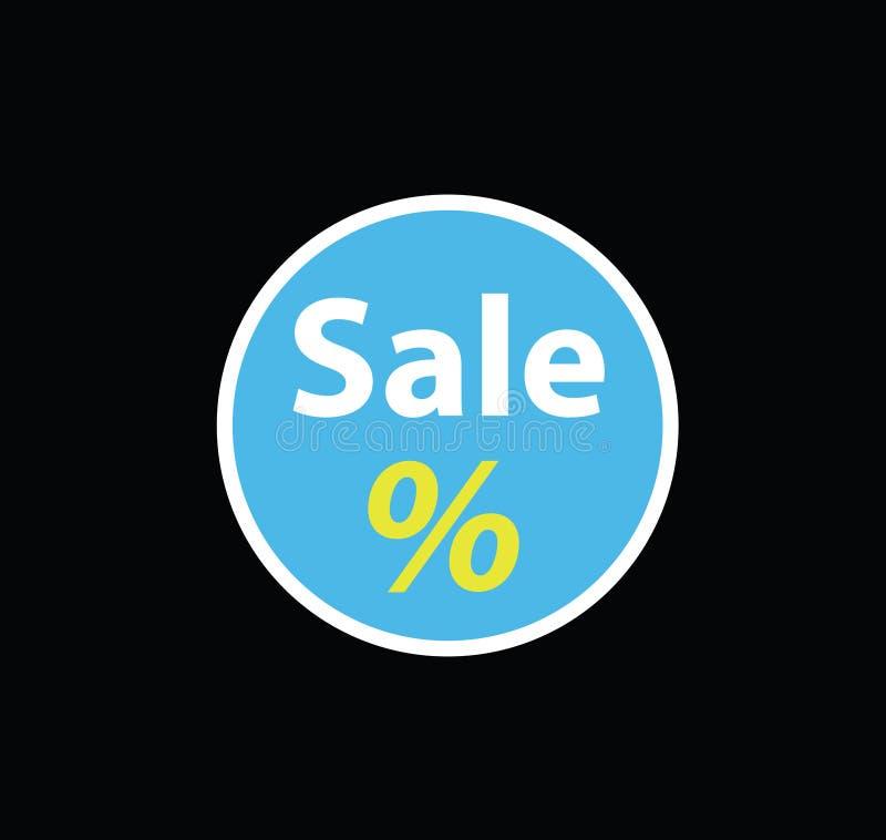 Bandeira azul do disconto da venda Preço da oferta do disconto ilustração stock