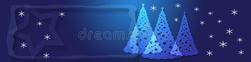 Bandeira azul do Natal ilustração stock