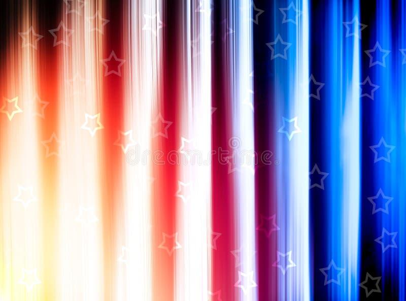 Bandeira azul e vermelha dos EUA com fundo das estrelas ilustração stock
