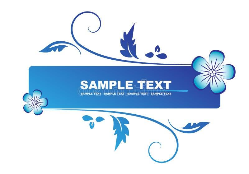 Bandeira azul floral ilustração stock