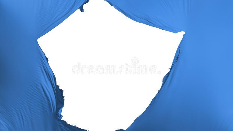 Bandeira azul rachada da cor ilustração royalty free