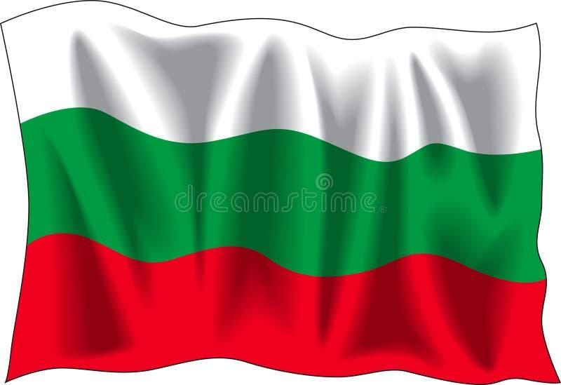 Bandeira búlgara ilustração stock