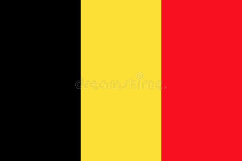 Bandeira belga, disposição lisa, ilustração ilustração stock