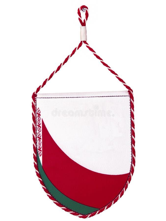 Bandeira Belorussian da flâmula ou do triângulo de Belarus foto de stock royalty free