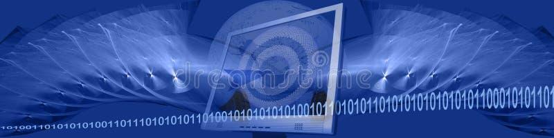 Bandeira: binário, tecnologia e alvos ilustração do vetor