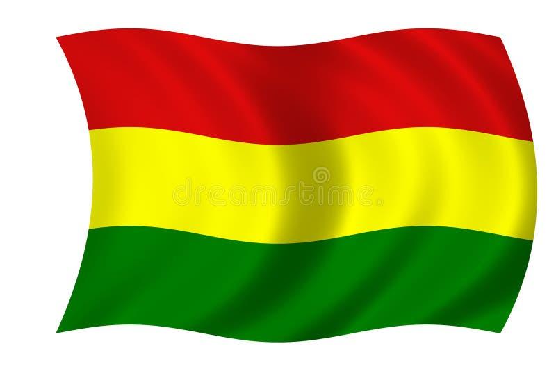 Bandeira boliviana ilustração stock
