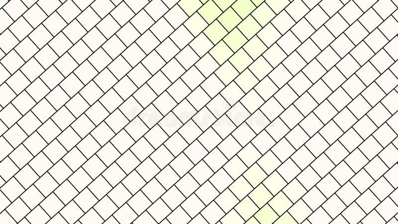 Bandeira bonita do papel de parede com, projeto abstrato, teste padrão geométrico, retângulos, fundo branco, textura da cor clara ilustração stock