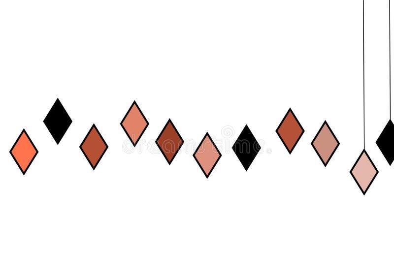 Bandeira bonita do projeto abstrato colorido da arte do fundo ilustração royalty free