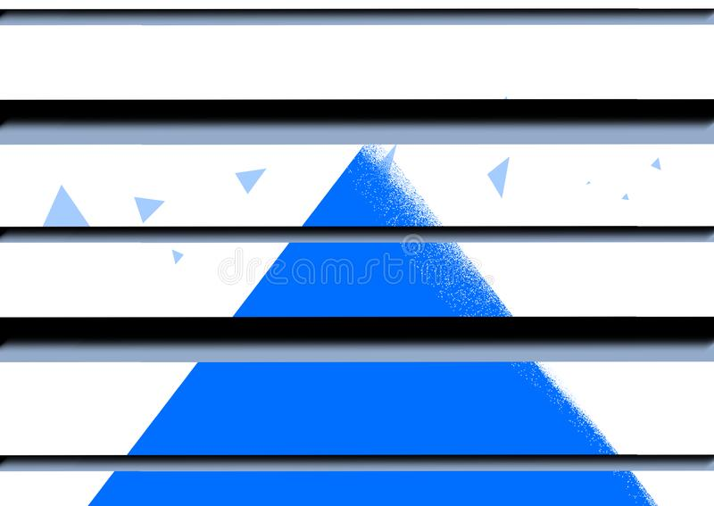 Bandeira bonita do projeto azul da arte do fundo do sumário do fundo ilustração do vetor
