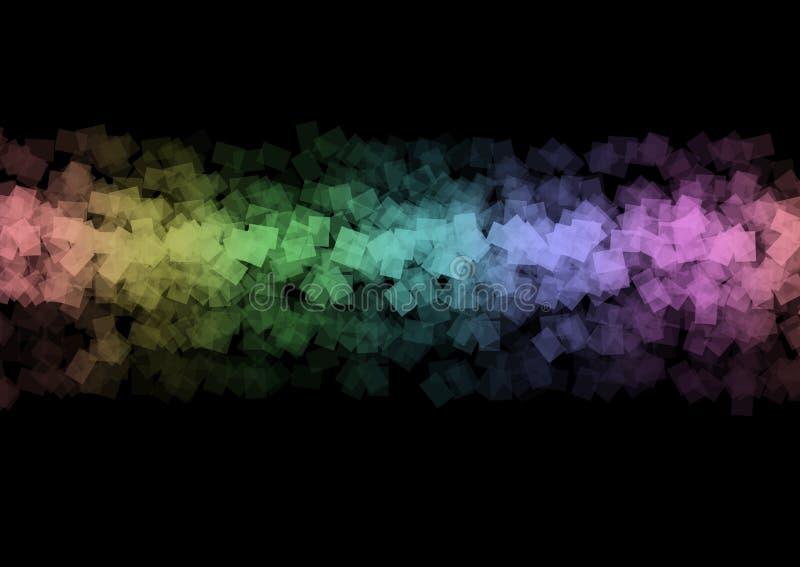 Bandeira bonita do projeto colorido da arte do fundo do sumário do arco-íris ilustração do vetor