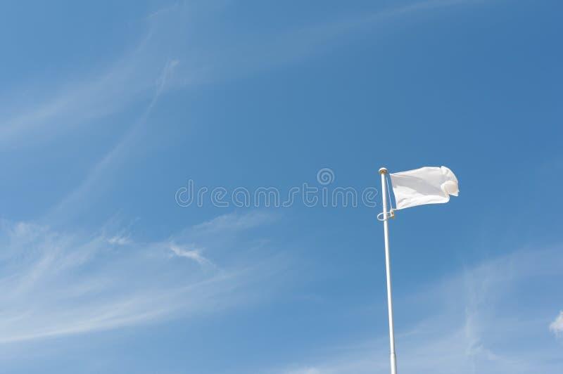 Bandeira branca do voo imagem de stock