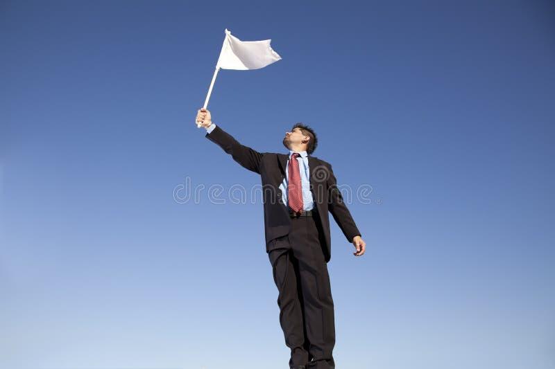 Bandeira branca para a rendição fotos de stock royalty free