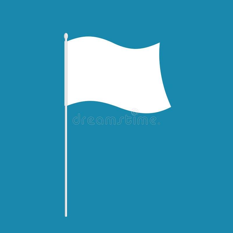 Bandeira branca símbolo da derrota Ilustração do vetor ilustração stock