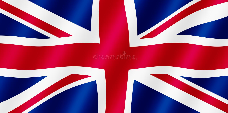 Bandeira britânica de Jack de união. ilustração royalty free