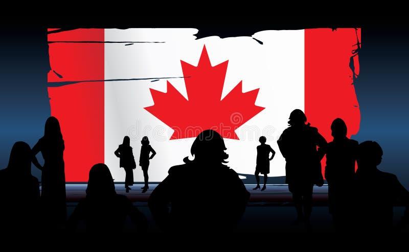 Bandeira canadense ilustração do vetor