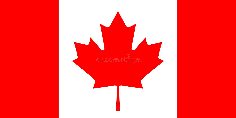 Bandeira canadense ilustração stock