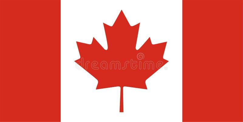 Bandeira canadense - Canadá ilustração do vetor