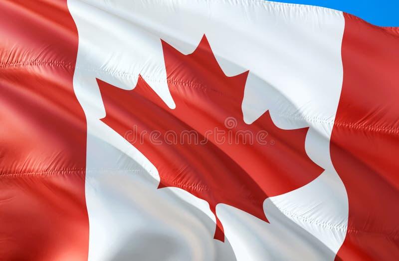 Bandeira canadense projeto de ondulação da bandeira 3D E r r fotografia de stock