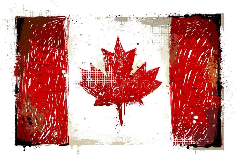 Bandeira canadense suja ilustração stock
