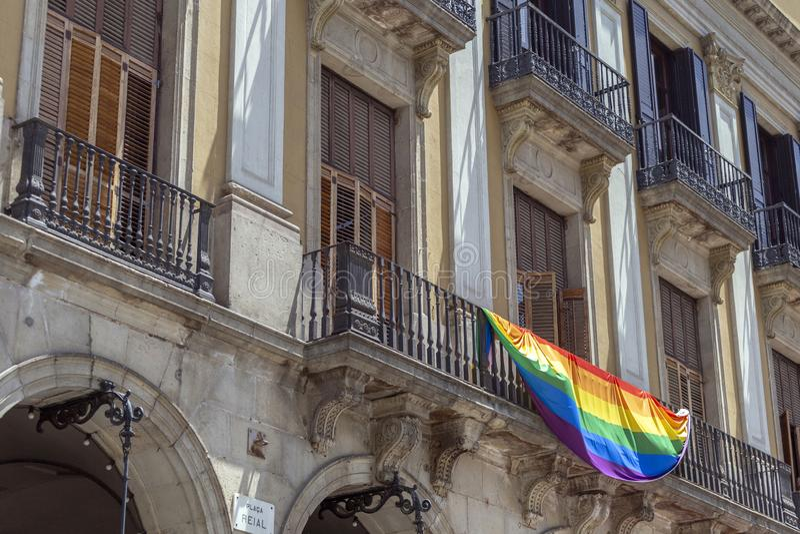 Bandeira Catalan fotos de stock royalty free