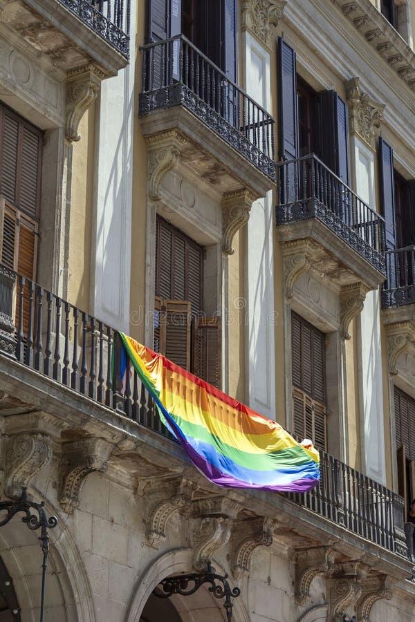 Bandeira Catalan foto de stock royalty free