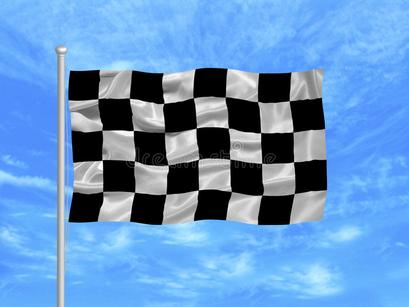 Bandeira Checkered 1 ilustração stock