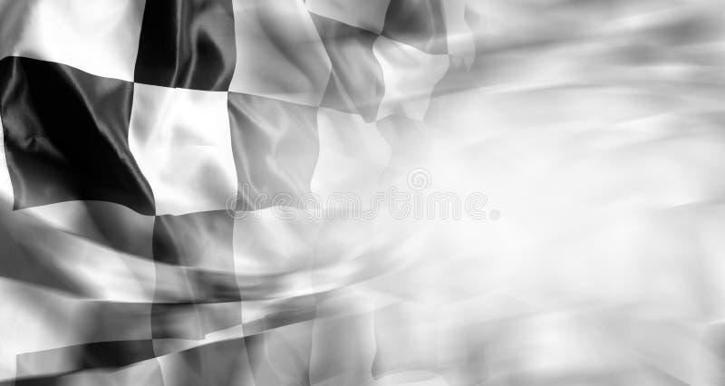 Bandeira Checkered imagens de stock royalty free