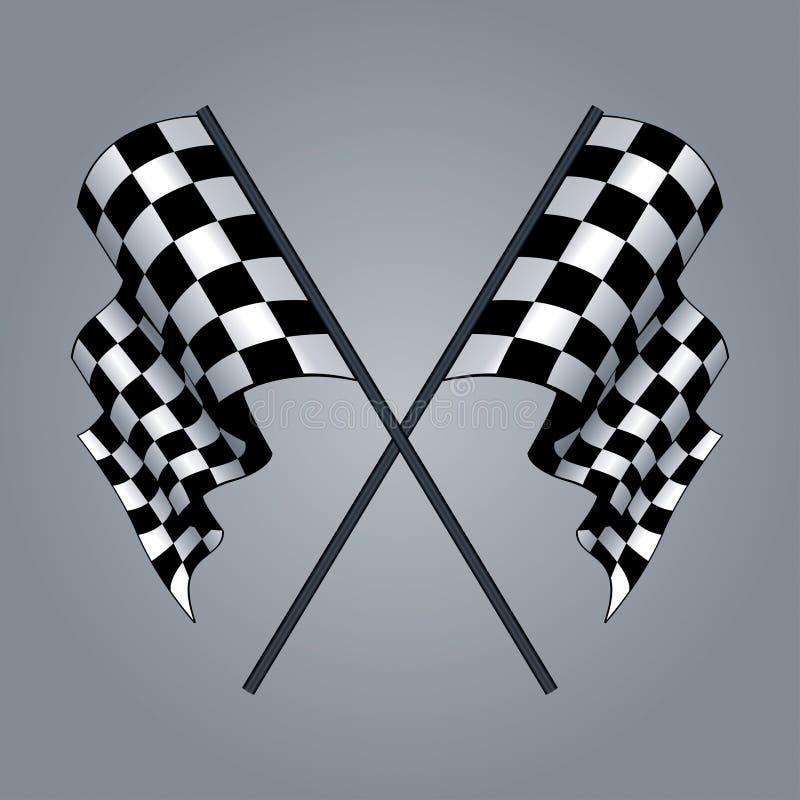 Bandeira Checkered ilustração royalty free