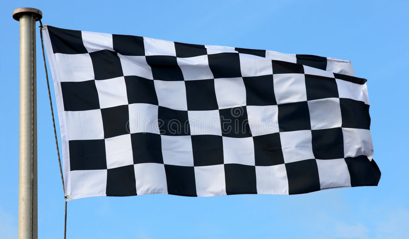 Bandeira Checkered Fotos de Stock Royalty Free