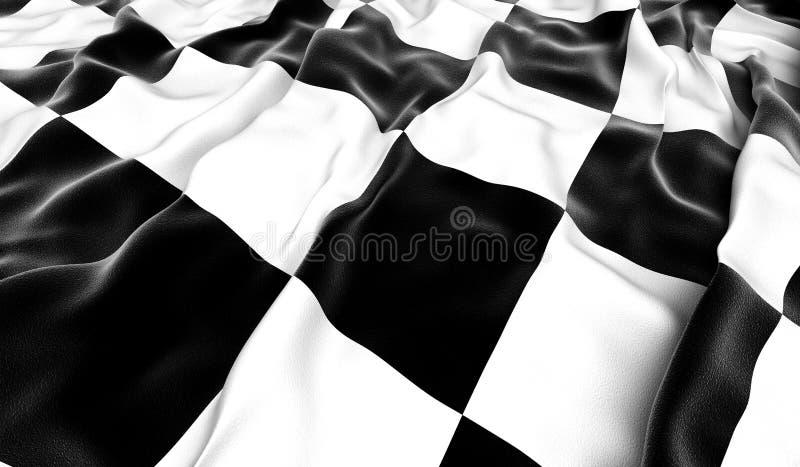 Bandeira Checkered ilustração stock