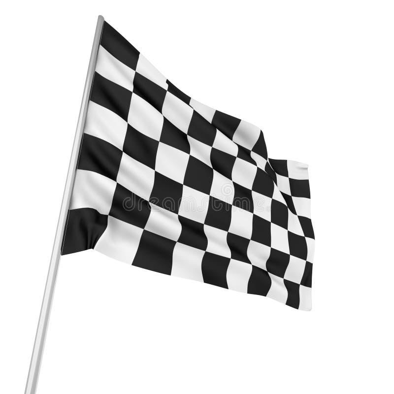Bandeira Checkered ilustração do vetor