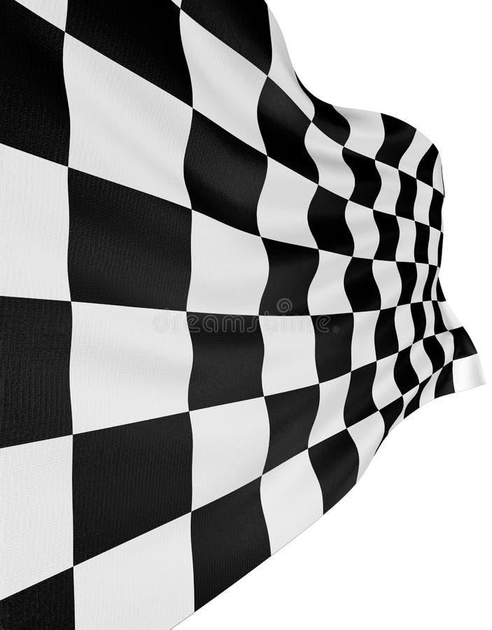 Bandeira Checkered 3 ilustração royalty free