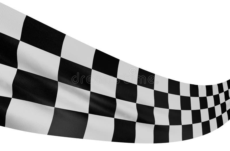 Bandeira Checkered 3 ilustração stock