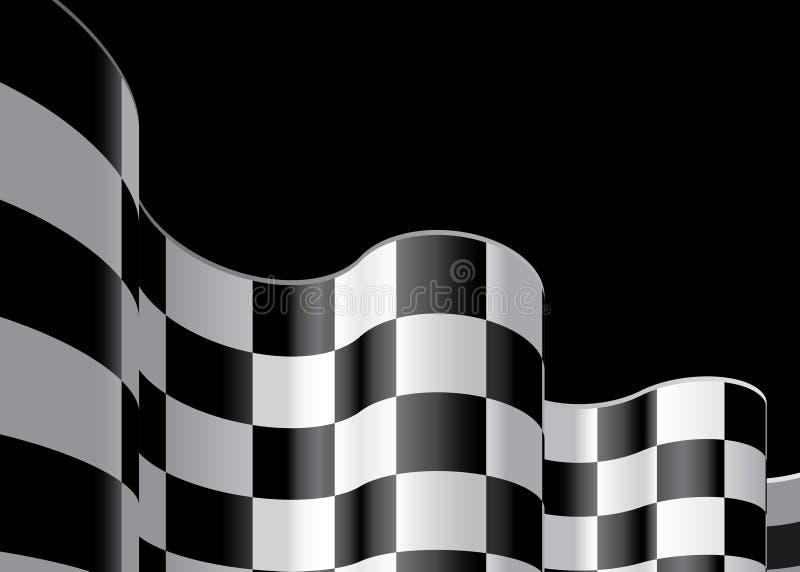 A bandeira Checkered ajustou 2 ilustração do vetor