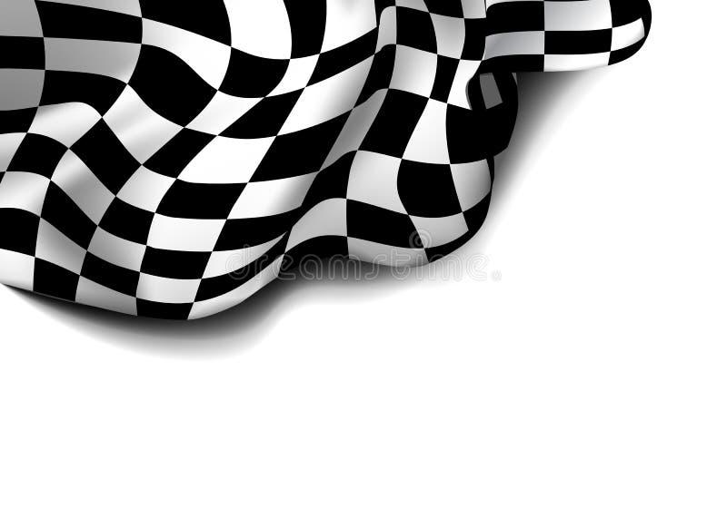 Bandeira Checkered da raça ilustração royalty free
