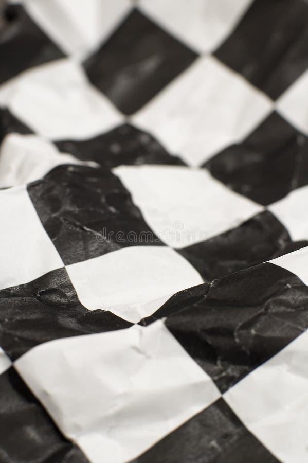 Bandeira Checkered da raça fotos de stock