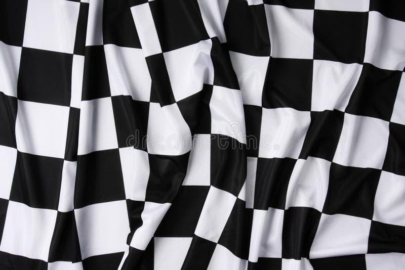 Bandeira checkered de ondulação real imagem de stock