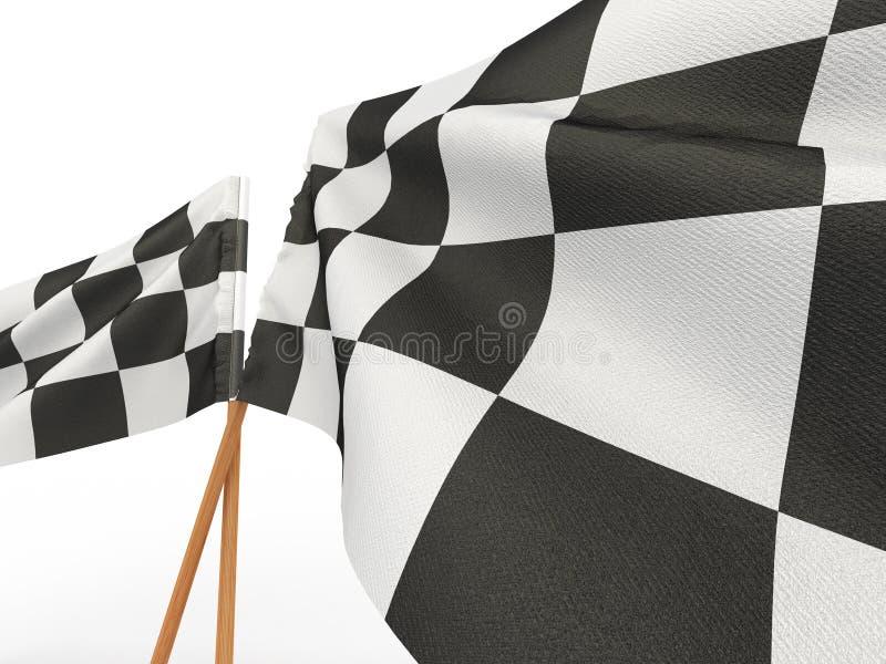 Bandeira checkered de terminação ilustração do vetor