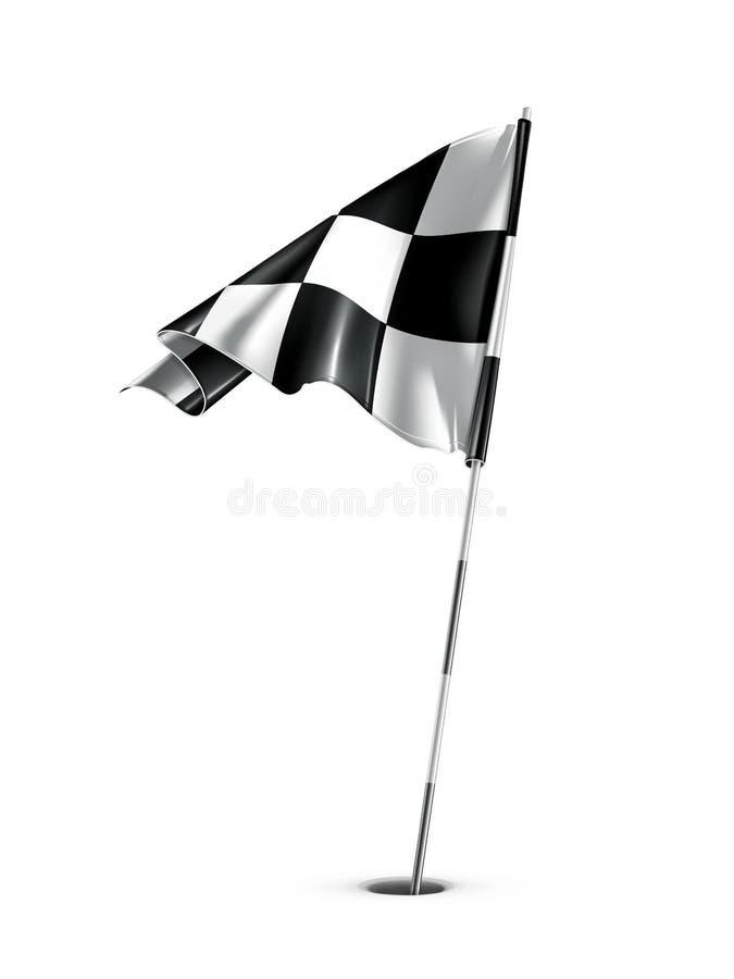 Bandeira Checkered do golfe ilustração do vetor