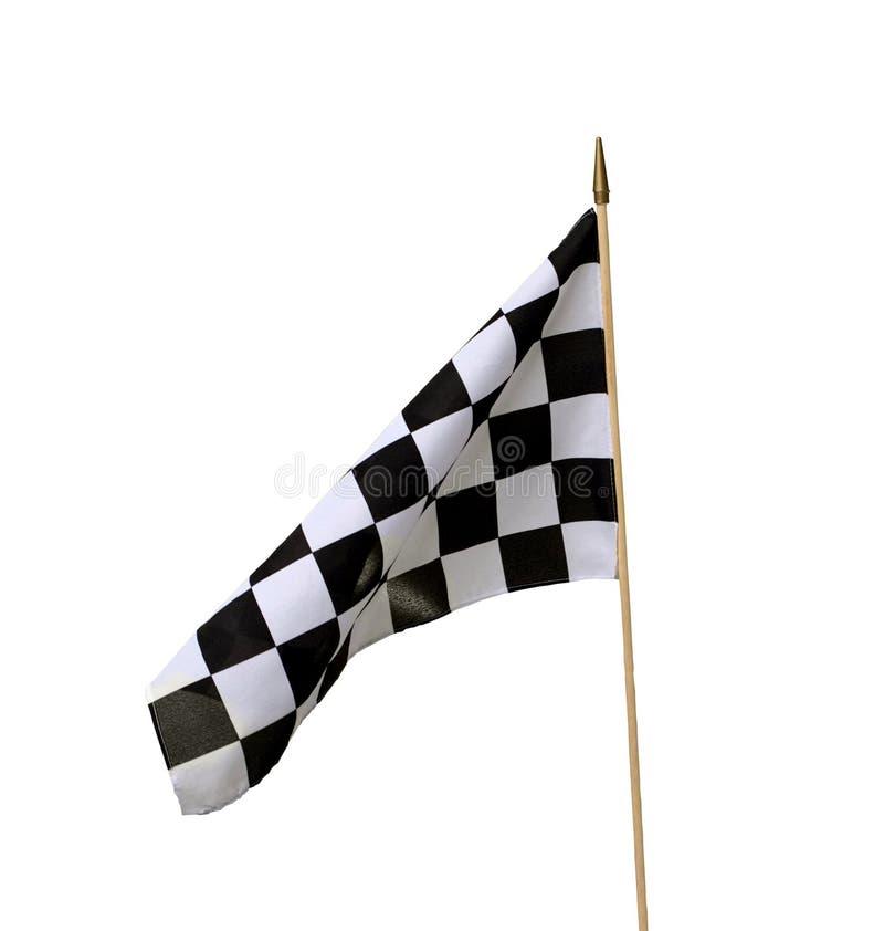 Bandeira Checkered isolada foto de stock