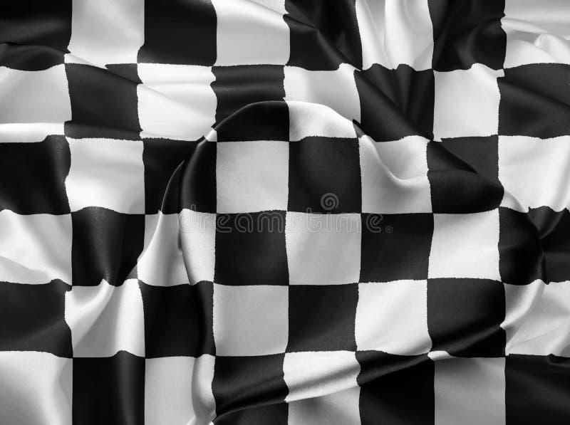 Bandeira checkered real imagem de stock