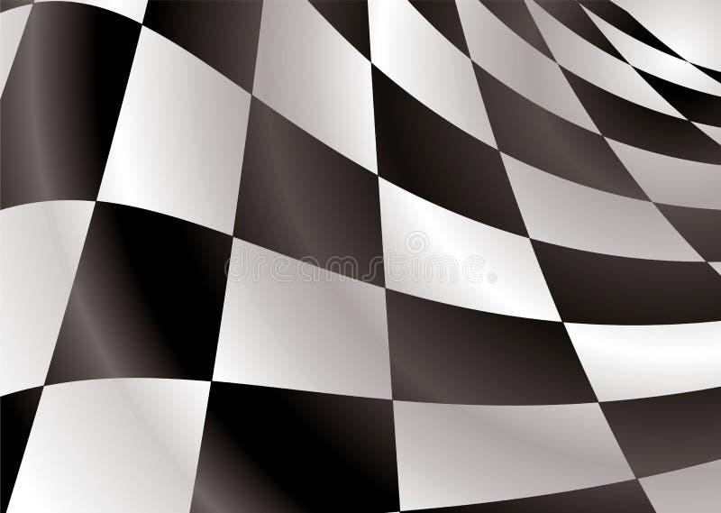 A bandeira Checkered revs ilustração stock