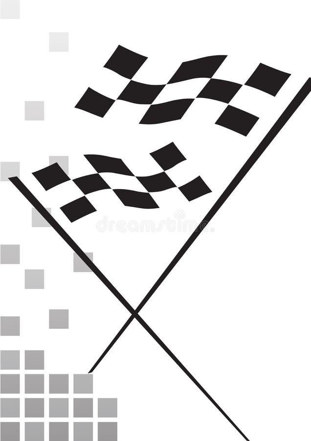 Bandeira Checkered - vetor ilustração royalty free